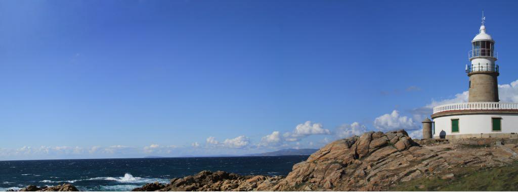 Imaxe panorámica do Faro de Corrubedo