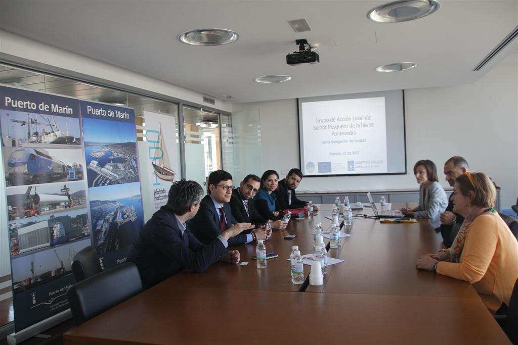 Unha delegación do Estado de Yucatán visita o GALP Ría de Pontevedra