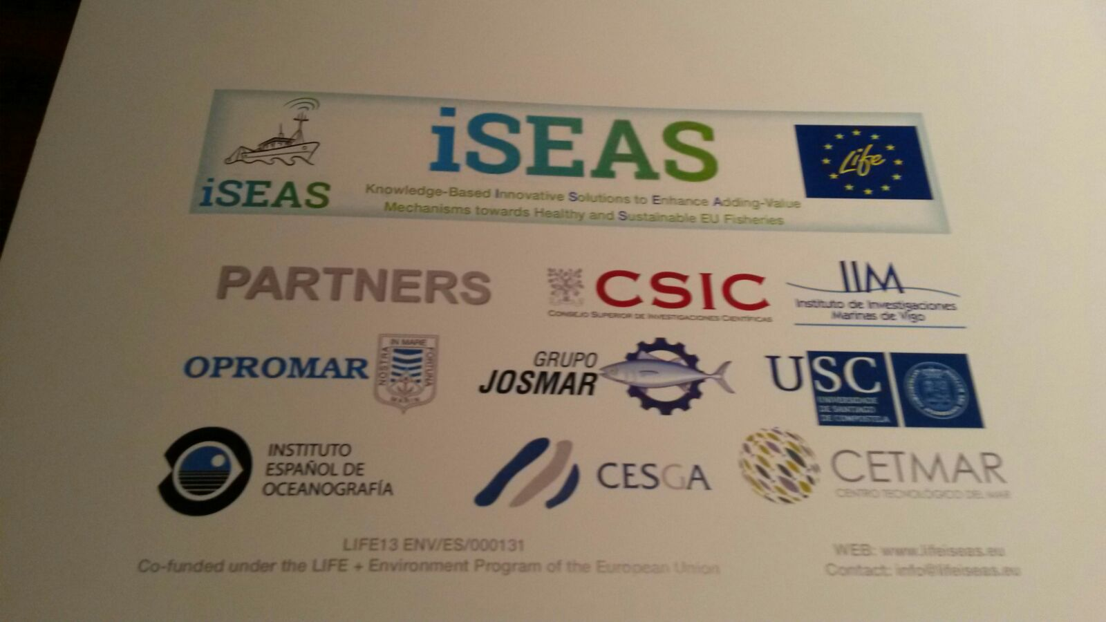 Asistencia á presentación do proxecto iSEAS