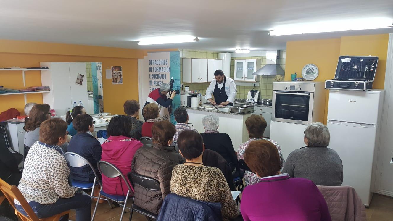 Obradoiro de Formación en Cociñado de Peixes e Mariscos en Burela e Foz