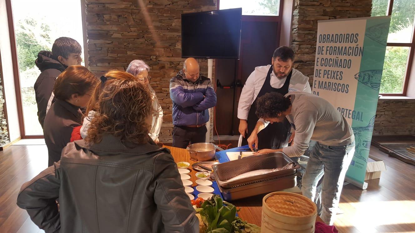 Obradoiro de Formación en Cociñado de Peixes e Mariscos en Barreiros e Ribadeo
