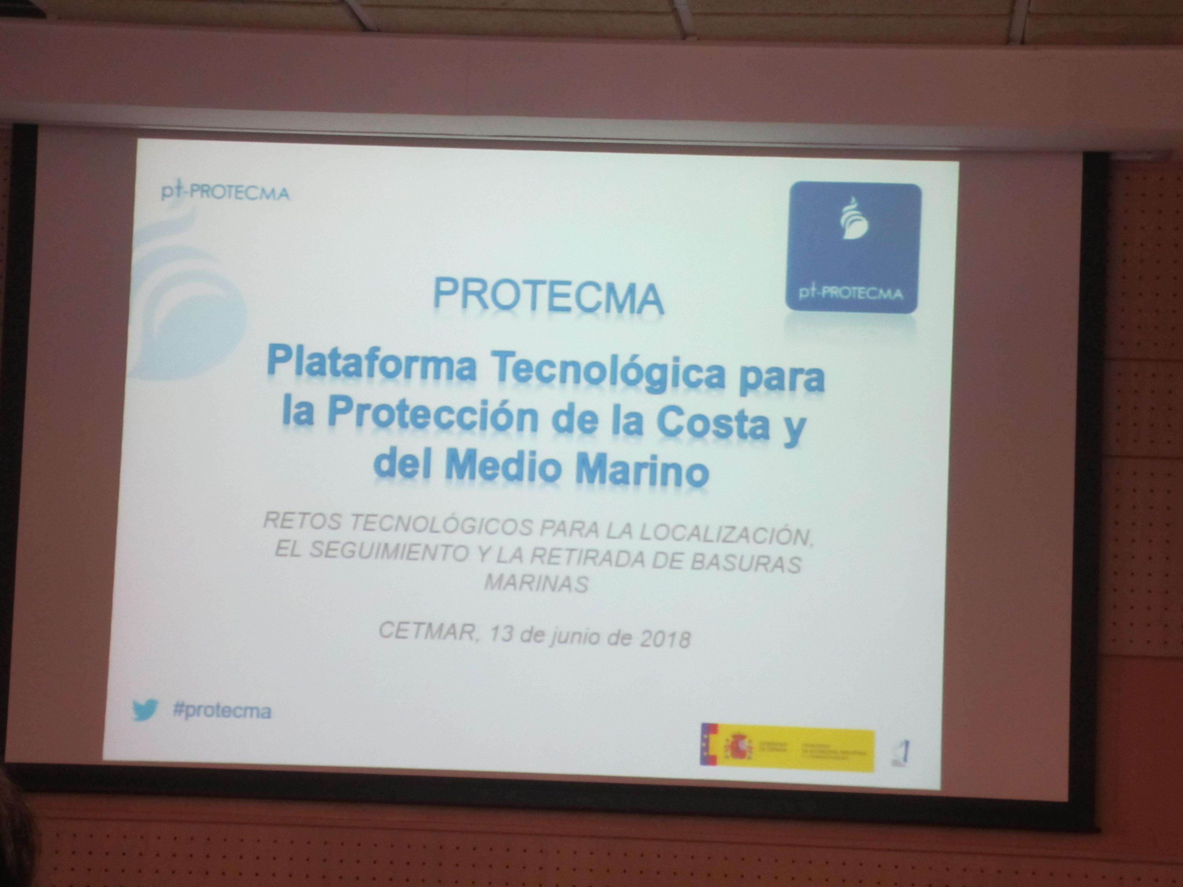"""Xornada PROTECMA """"Retos tecnolóxicos para a localización, seguimento e retirada de basuras marinas"""""""