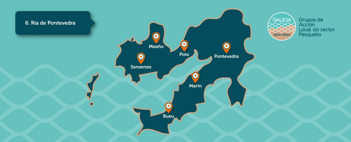 Mapa do GALP Ría de Pontevedra